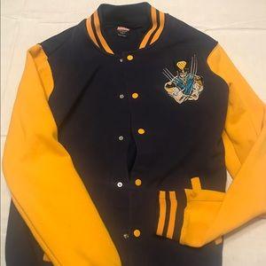 Marvel wolverine letterman button-up jacket.